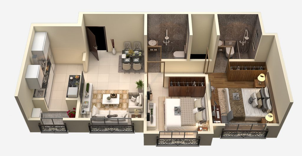 2-BHK-3D-Floor-Plan